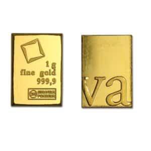 Lingot d'Or pur 999.9  1 Gramme d'or 24k