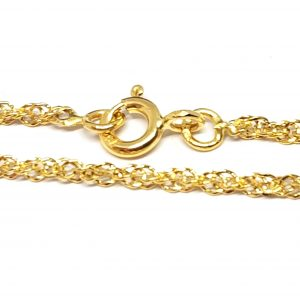 Bracelet Singapour 2 mm 18 cm or jaune 18k