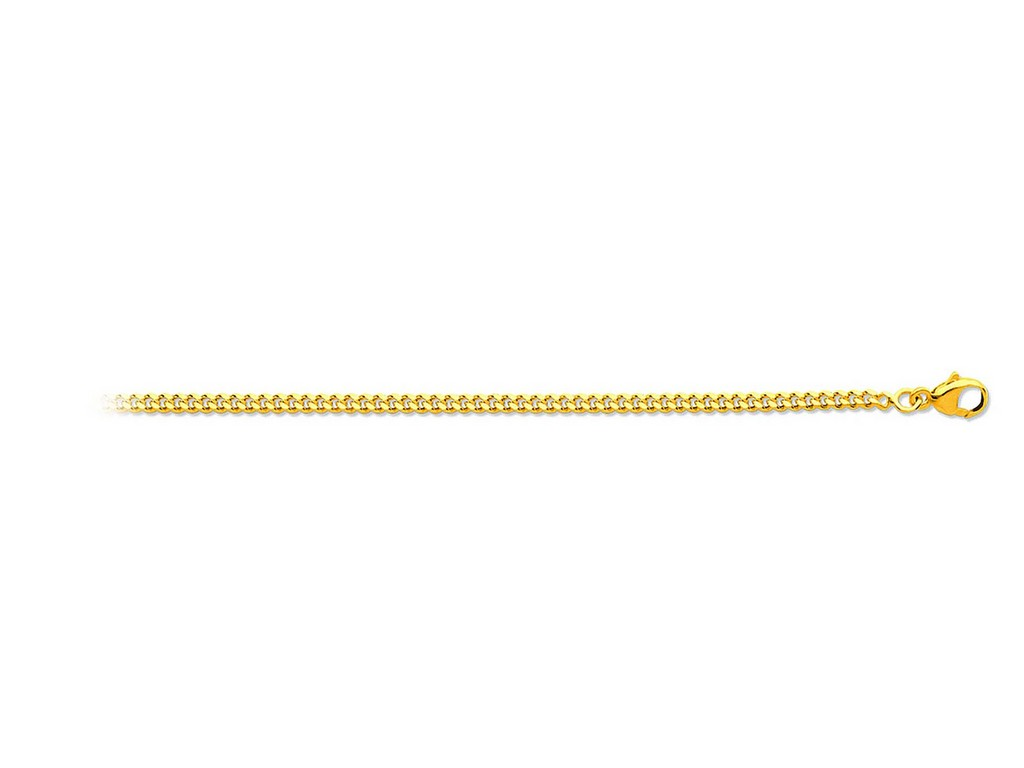 804b3666c27 Chaîne maille gourmette 1mm 45 cm or jaune 18k - Manzocco and co ...