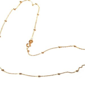 Collier boules 45 cm or jaune 18k