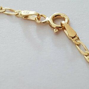 Bracelet  Forçat Marine Alternée 18 cm or jaune 18k
