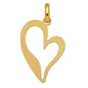 Pendentif Coeur ajouré or jaune 18k
