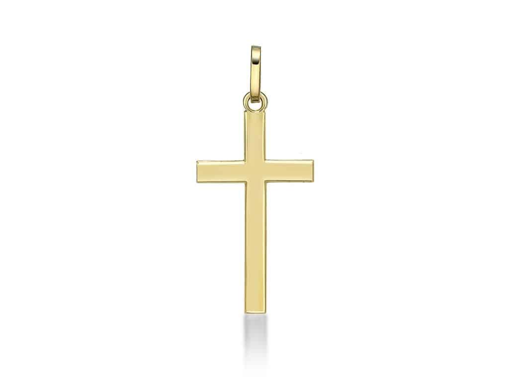 Croix Religieuses pendentif croix religieuse 22 mm or jaune 18k - manzocco and co