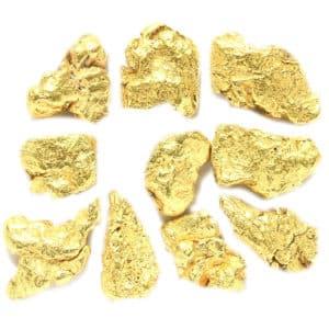 Pépites d'or d'Alaska  1.100 Grammes 20 à 22k entre 5 et 7 pépites