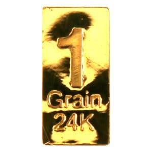 Lingot 1 Grain or pur 24K 999.9
