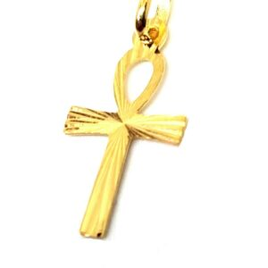 Pendentif or jaune massif 18k 750/1000 Croix Egyptienne Ânkh